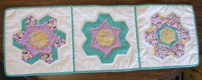 Pieced Hexies Table Runner